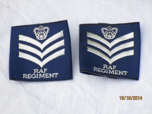 Staff Sergeant Blue Royal Air Force Shoulder Marks Raf Regiment,