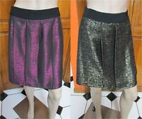 Lord & Taylor Metallic Pink Or Gold And Black Knee-length Skirts Various Sz