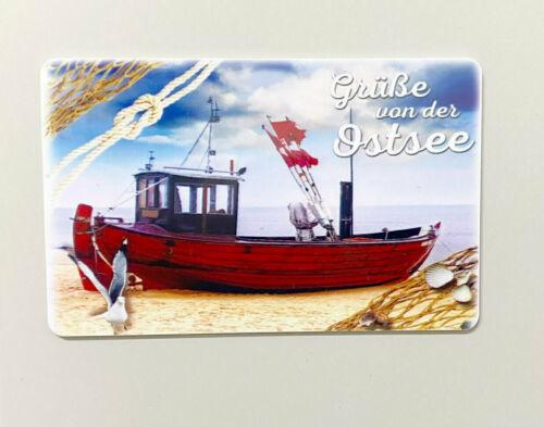 Kühlschrankmagnet Kreditkarte Grüße von der Ostsee
