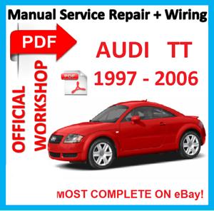 official workshop manual service repair for audi tt 1997 2006 ebay rh ebay ie audi tt 2007 workshop manual audi tt 8j service manual