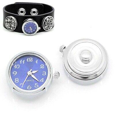 1 Klicks Druckknopf Uhr Clicks Klicks Snap Bead Buttons Uhr Blau B28683