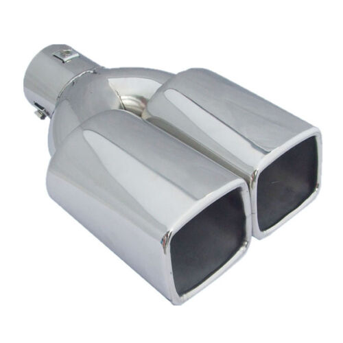 """Attractive 2.5/""""Stainless Steel Inlet Car Tail Rear Pipe Tip Muffler Cover Silver"""
