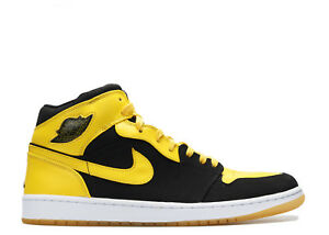 free shipping bd7a9 35367 Details about Nike Air Jordan 1 Retro OG Black Yellow Size 13. new love  bred royal dmp