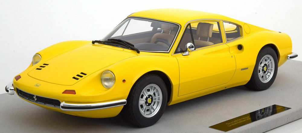 TOP MARQUES COLLECTIBLES Ferrari 246 GT Dino Dino Dino Yellow 1 12 LARGE CAR LE 250pcsNew 17a9c6