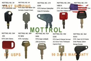 10 pcs keys  D200 FITS Daewoo,Doosan Excavator /& Heavy Equipment DH220,DX220,