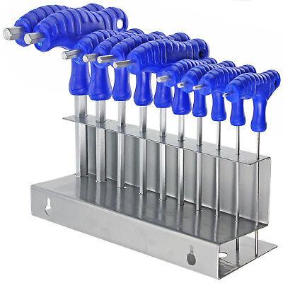 T Handle Hex Key Set Metric Allen Allan Bike Wrench Tool & Stand 2 4 6 8 mm x 10