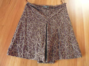 LADIES-GORGEOUS-BROWN-EMBROIDERED-COTTON-SKIRT-BY-JEEP-SIZE-34-AUS-12-14-CHEAP