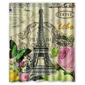 High Quality Bathroom Paris Eiffel Tower Waterproof Shower