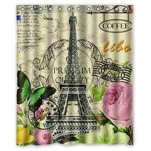 Image Is Loading High Quality Bathroom Paris Eiffel Tower Waterproof Shower