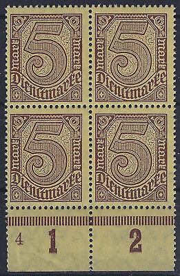 4 Postfrisch Reich Und PräChtig 33a Im Viererblock Vom Plattenunterrand Mit Plnr Dienst Minr
