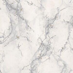 Strata Light Grey Marble Wallpaper Washable Vinyl By Rasch