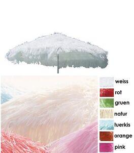 Das Bild Wird Geladen Jan Kurtz Hawaii Raffiabast Weiss Sonnenschirm Stroh Parasol