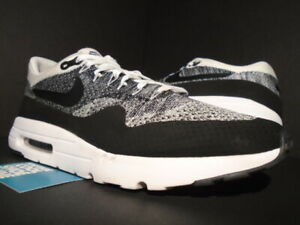 promo code 33f90 12c43 Details about NIKE AIR MAX 1 ULTRA FLYKNIT RACER WHITE BLACK GREY OREO  PATTA 843384-100 13