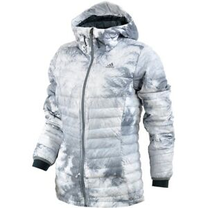 Details about Adidas Climaheat Down Jacket Ladies Winter Anorak Jacket Quilted Jacket White show original title