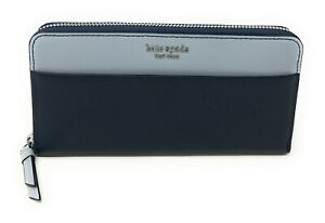 Kate-Spade-Neda-Cameron-Large-Continental-Leather-Zip-Around-Wallet-Navy-Blue