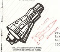 Germany Carried by Rocket Mail Handstamp & Post Office Zierenberg 1962 7v