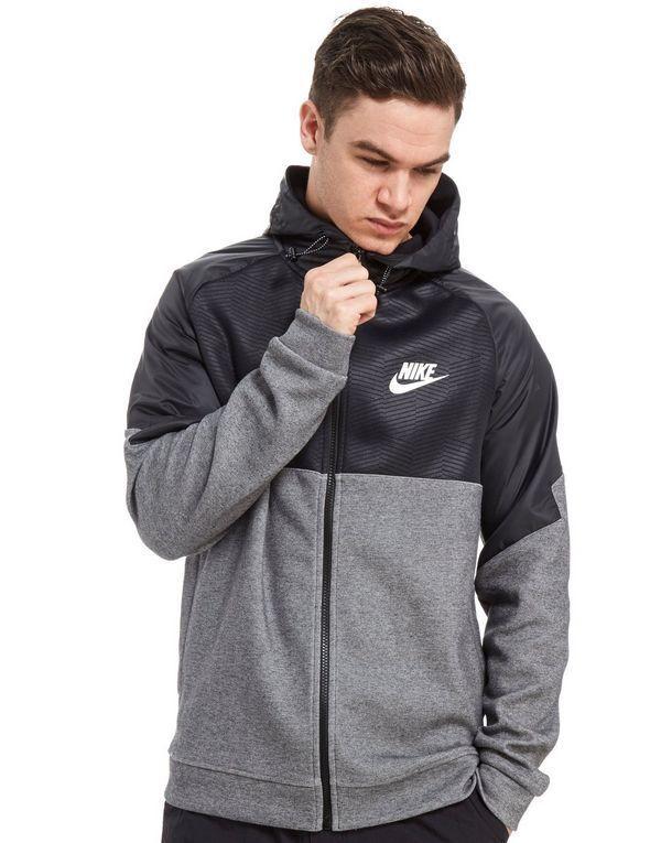 Nike Tech Pile Windrunner Cerniera E Cappuccio Cappotto/giacca 724307 071 Blk/grigio (l) Nuovo Con Etichetta