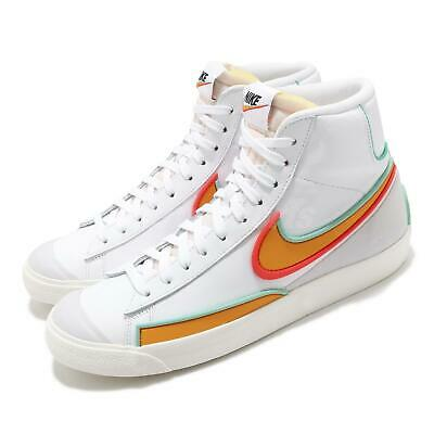 Nike Blazer Mid 77 Infinite White Kumquat Aurora Green Men Casual DA7233-100   eBay
