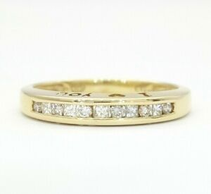 Ladies Ring 9ct 375 9k Yellow Gold I Love You 0 25ct Diamond Ring Ebay