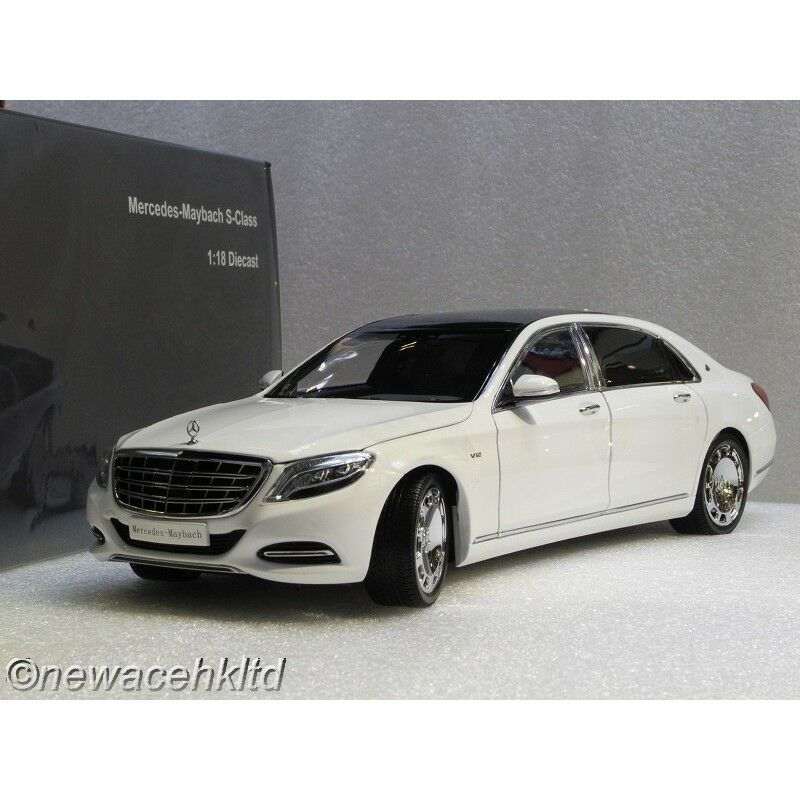 Mercedes Maybach S-Class 2016 Diamond White ALMOST REAL 1 18