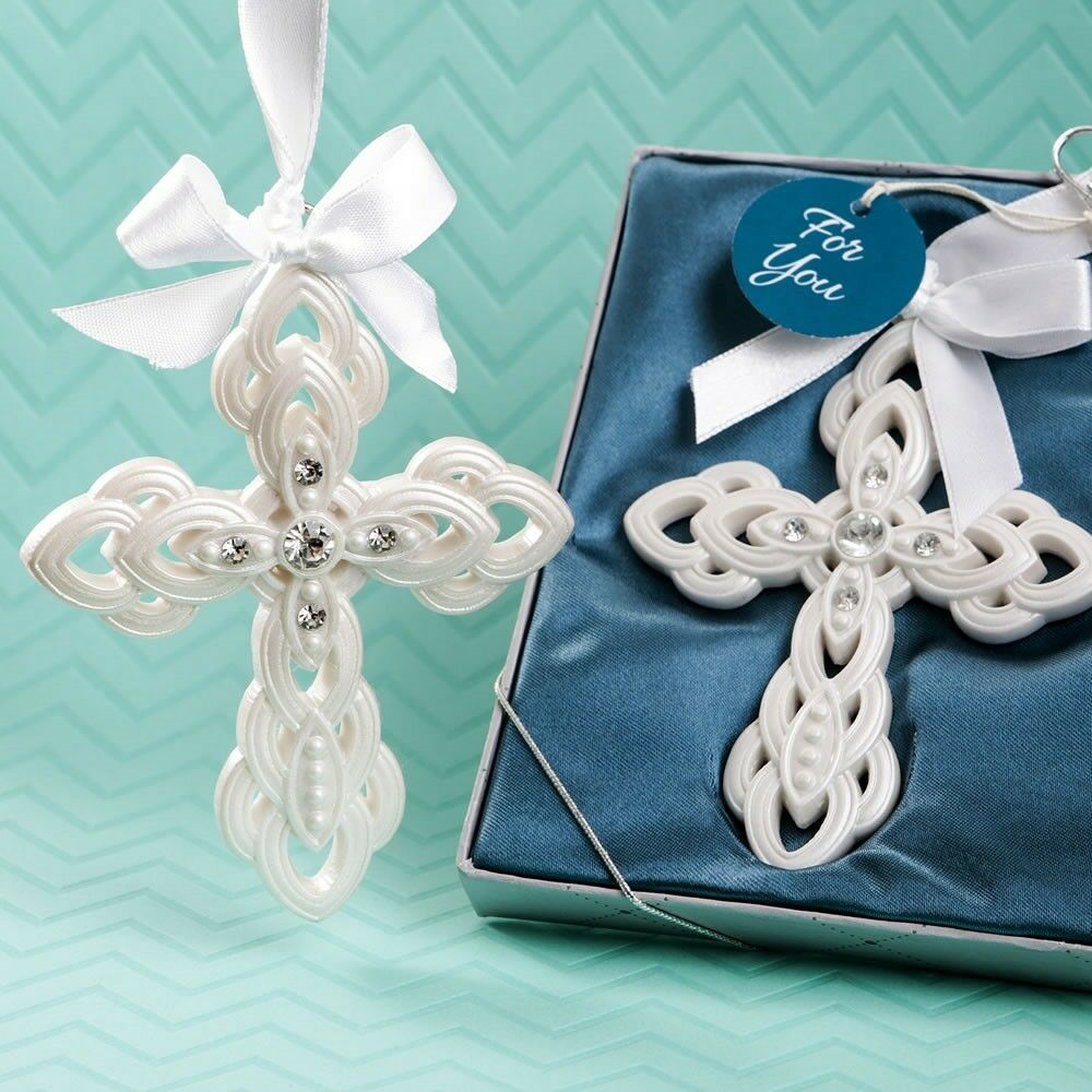 40 Stunning Cross Ornament Christening Baptism Baby Shower Religious Party Favor
