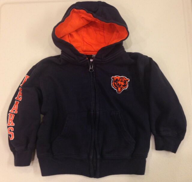 a2d9f7cd NFL Kids~Chicago BEARS Team Apparel~Full Zip Hoodie Sweater~Toddler 2T 4T