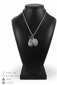Bull-Terrier-silver-plated-pendant-on-the-silver-chain-Art-Dog-IE