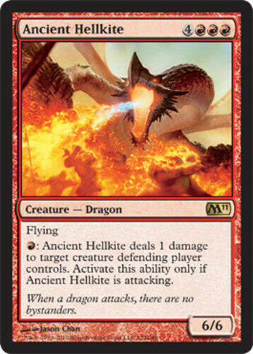 4x English -BFG- MTG Magic x4 Magic 2011 Near Mint Ancient Hellkite