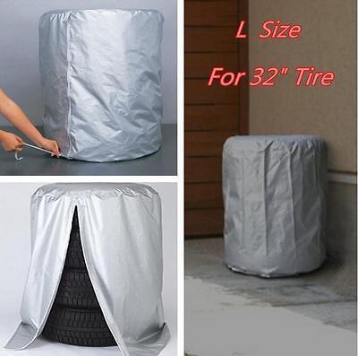 Car SUV Tire Rain/Dust-proof Seasonal Protective Cover Spare Tire Storage Bag L