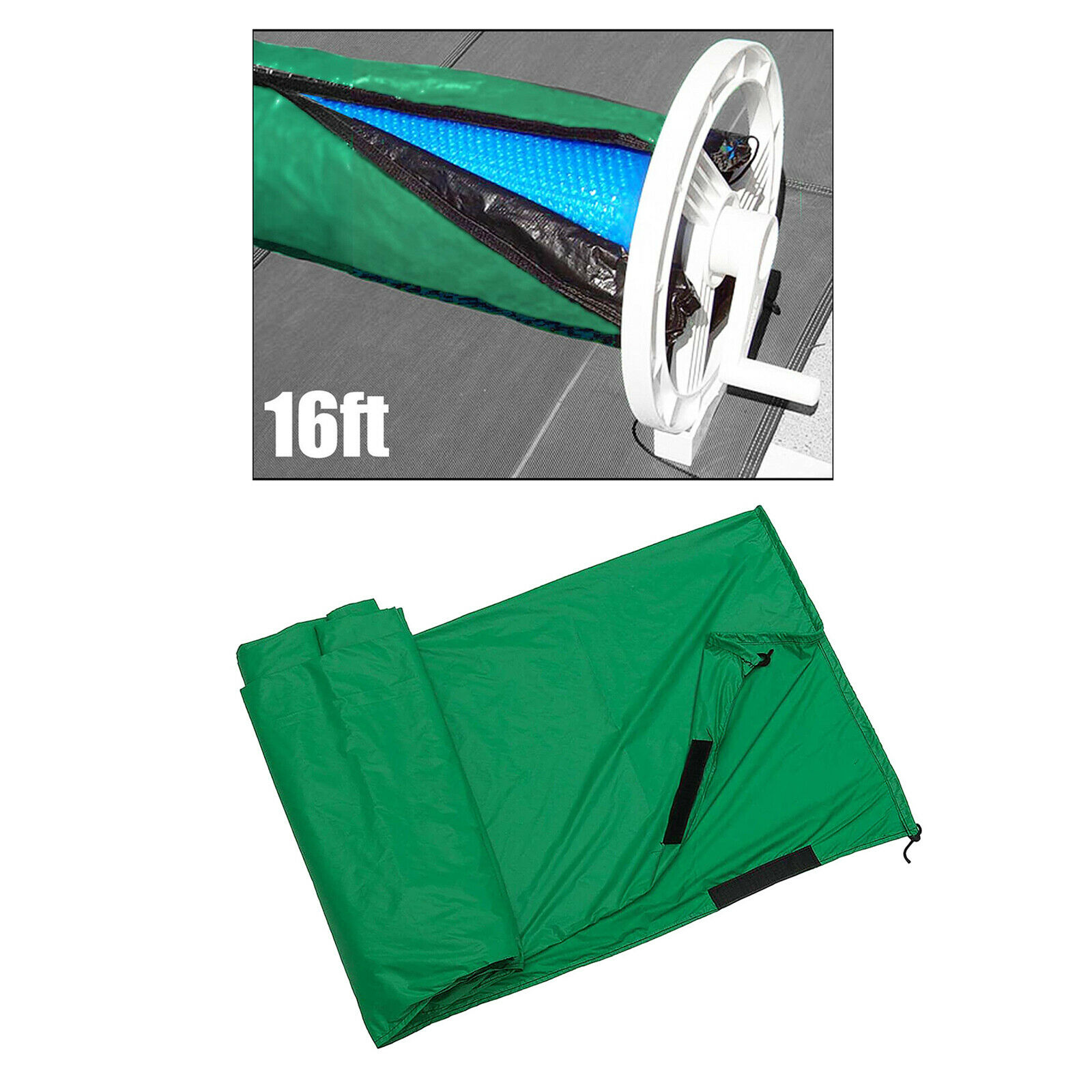 Winter Cover For Swimming Pool Solar Reel - Reel Not Included S Green