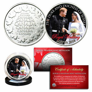 PRINCE-HARRY-amp-MEGHAN-MARKLE-Official-Look-of-Love-Photo-Royal-Wedding-RCM-Coin