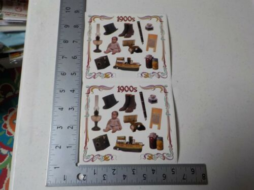 FRANCES MEYER 1900/'S VINTAGE LOOK DOLL SHIP PEN STICKERS SCRAPBOOKING NEW A2643