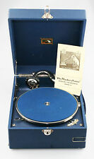 HMV His Master's Voice 97B Portable Gramophone w/ Manual & Key - SUPERB (JZ88)