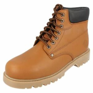 Gehorsam Truka Mens Work Boots Mal66 Light Tan (r33a)