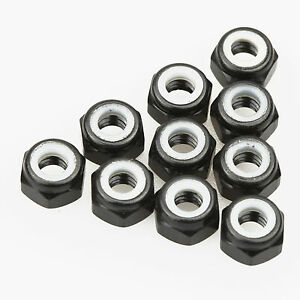 10PCS-ALIENTAC-Aluminum-M4-Black-Nylon-Hex-Insert-Self-Lock-Nuts
