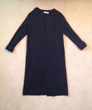 Stunning Jil Sander Black Women's Knit Coat In Size 40