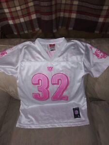 Women L Jersey White Pink Polyester
