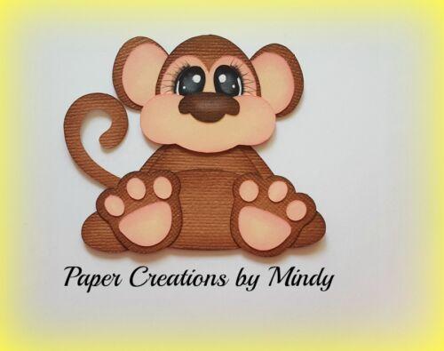 CRAFTECAFE MINDY MONEY BABY JUNGLE ZOO DIE CUT premade paper piecing scrapbook