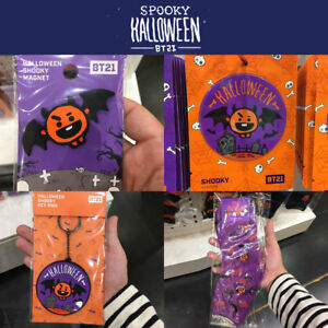 BTS-BT21-Official-Authentic-Goods-SHOOKY-4SET-Halloween-Ver-Provide-tracking-Num