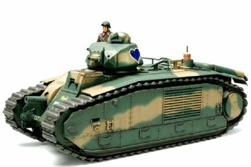 TAMIYA 1 35 Franch Battle Tank B1 bis Model Kit NEW from Japan