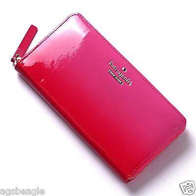 Kate Spade Wallet PWRU4190 Cedar Street Ombre Patent Nisha Pink Agsbeagle