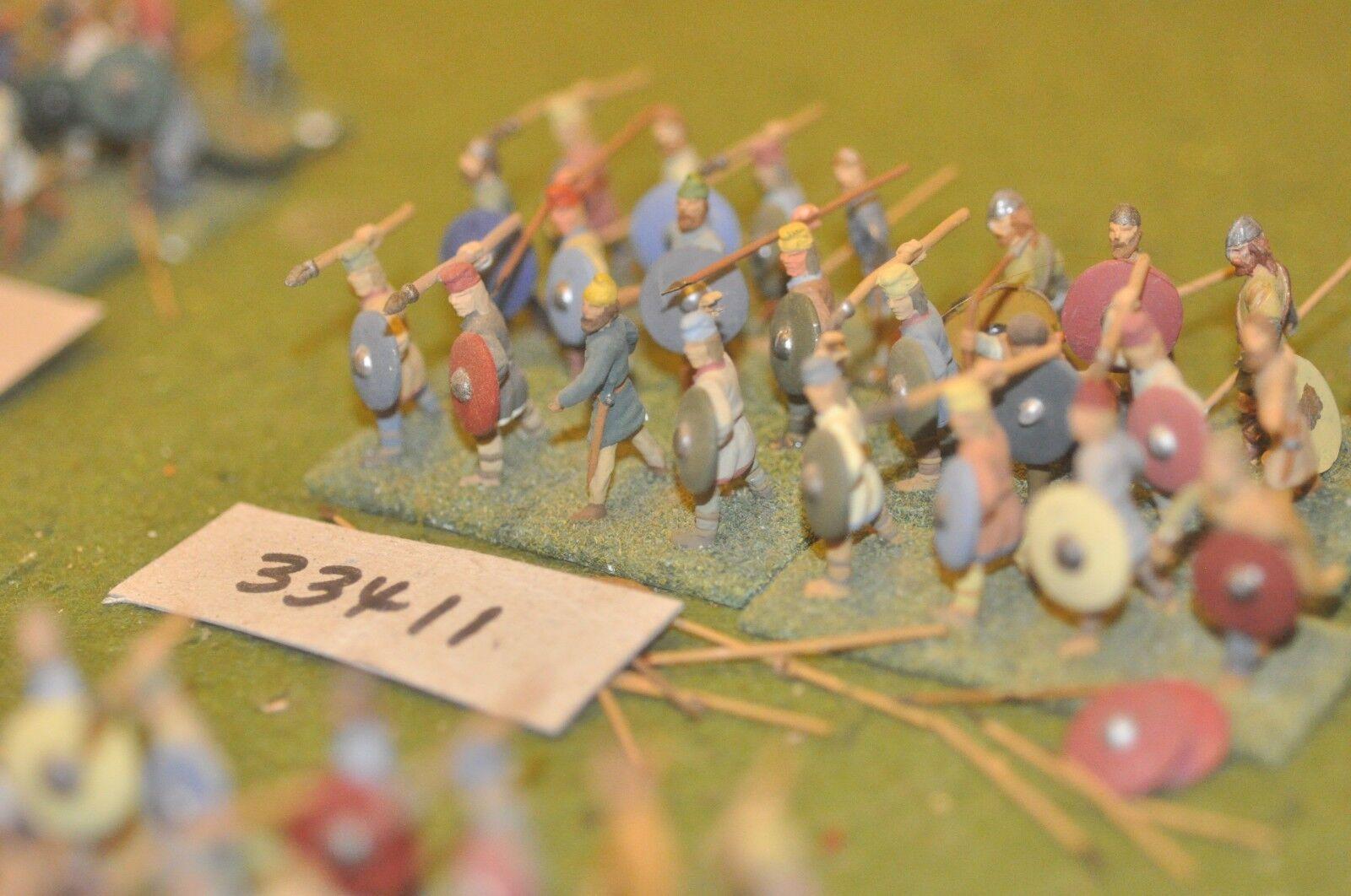 25mm dark ages   saxon - spearmen 24 figures - inf (33411)