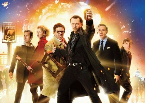 The Worlds End Simon Pegg Art POSTER