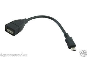 Micro USB to Female USB OTG Adapter Cable Samsung S6/S6+ Plus Flash 128GB/256GB