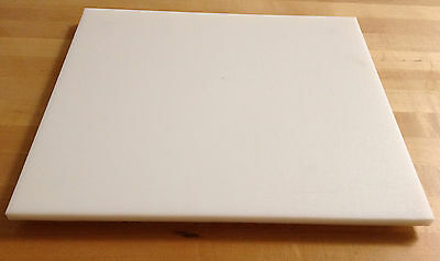 "White Plastic (HDPE) Cutting Board 1/2"" Thick - Commercial Grade FDA/NSF/USDA"