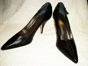 ~ 10b Noir À Talons Fabriqué Chaussures Classique En Cuir Nicole Miller Brazil nqPx0gqp