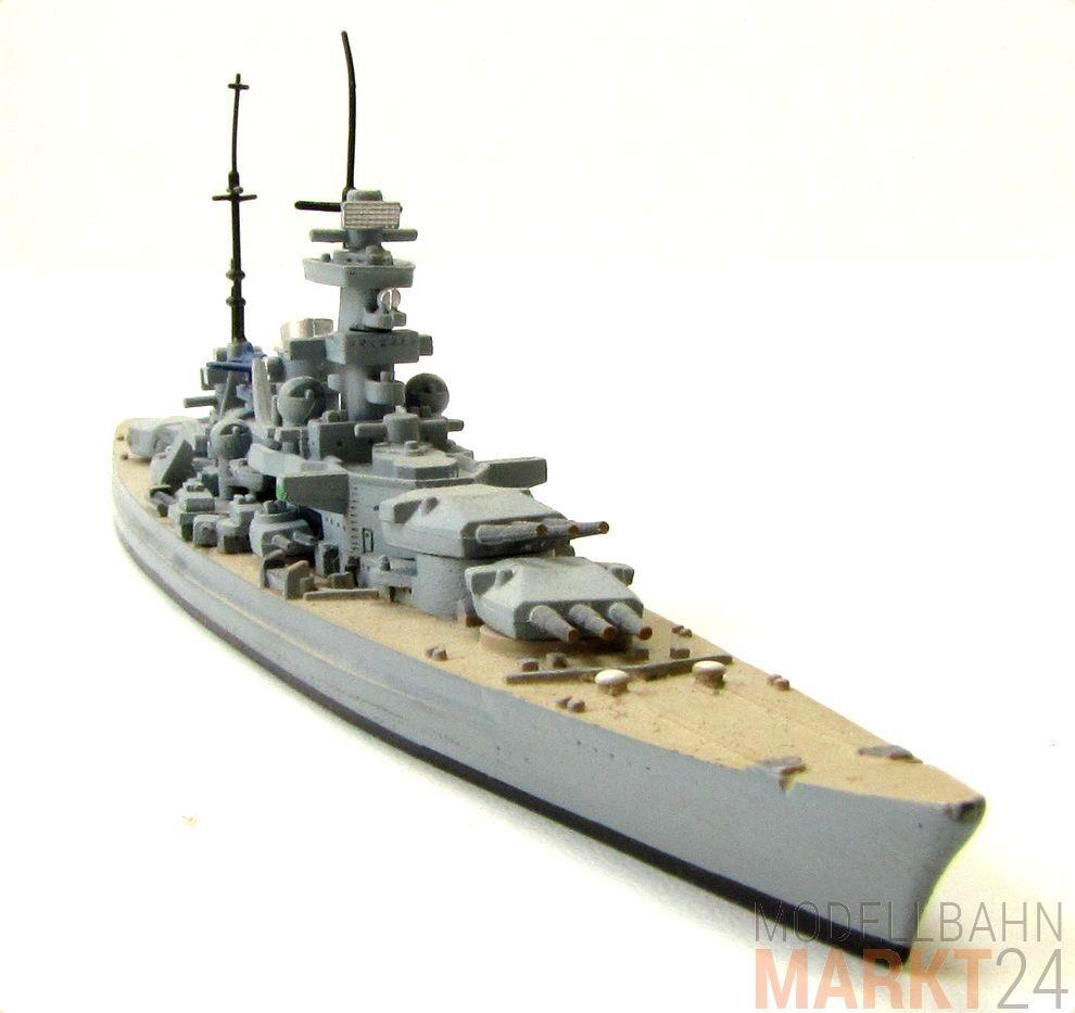 Metallguss Modèle Lourd chars navire SCHARNHORST WWII échelle 1 1250