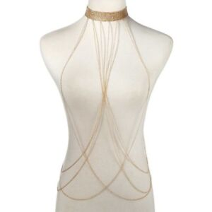 Body-Chain-Women-Jewelry-Bikini-Crystal-Harness-Rhinestones-Metal-Belly-Necklace