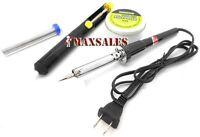 Soldering Kit 60watts Solder Iron, Solder Wire, Solder Paste & Pump