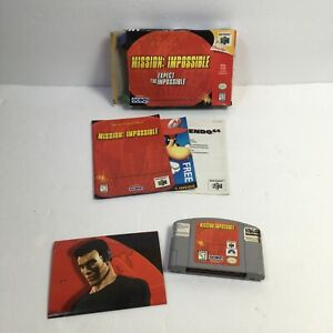 Mission: Impossible Nintendo 64 Video Game w/ Box, Manual, Poster - N64 Tested